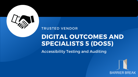 handshake icon, Trusted Vendor - Digital Outcomes and specialists 5 framework, accessibility testing and Auditing
