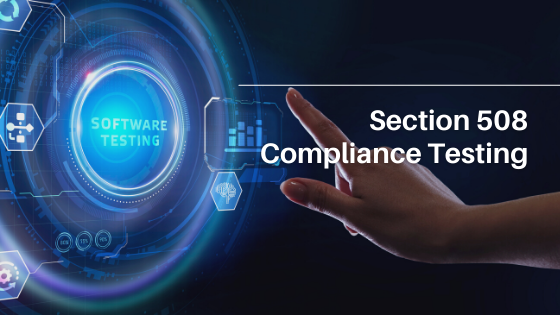 Section 508 compliance testing