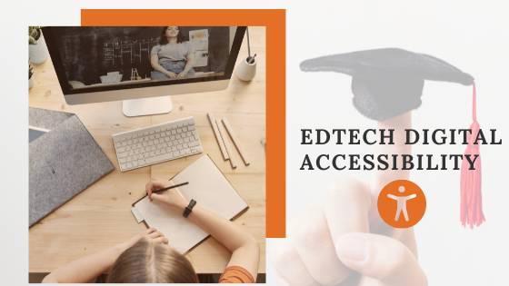 a student taking notes from online class - edtech digital accessibility