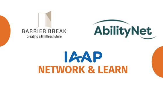 Logo - BarrierBreak, AbilityNet and IAAP: Network & Learn