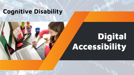 a child taking notes - cognitive disability - digital accessibility